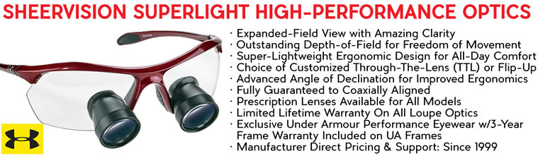 Learn more about the special optics that makes SheerVision's loupes outperform many other big-names.